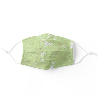Elizabethtown Topographical Map Adirondack Park Adult Cloth Face Mask