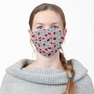 Elmo | Aw Yeah, Awesome Pattern Adult Cloth Face Mask