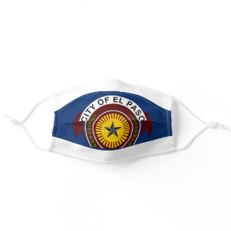 Emblem of City of El Paso, Texas Adult Cloth Face Mask