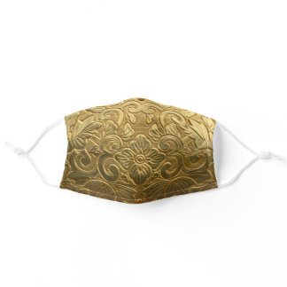 Embossed Gold Adult Cloth Face Mask