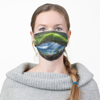 Enchanted magical forest adult cloth face mask