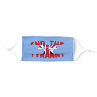 End The Tyranny in the UK Adult Cloth Face Mask