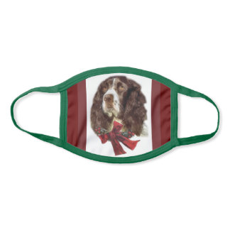 English Springer Spaniel Christmas Face Mask