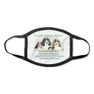 English Springer Spaniel Face Mask