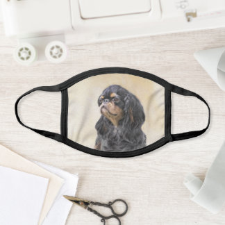 English Toy Spaniel Painting - Cute Original Dog A Face Mask