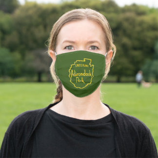 Entering Adirondack Park Sign Adult Cloth Face Mask