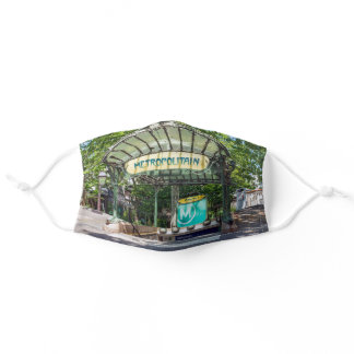 Entrance to Metro station at Montmartre - Paris Adult Cloth Face Mask