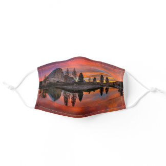 Epic Orange Sunrise Lake Dolomites Mountains Italy Adult Cloth Face Mask