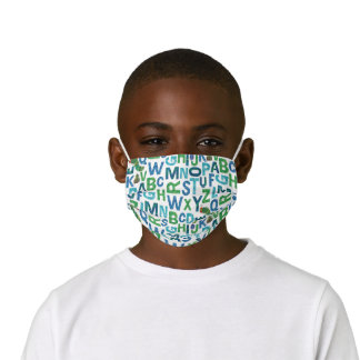 Eric Carle | Blue & Green Alphabet Pattern Kids' Cloth Face Mask