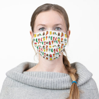 Eric Carle | Caterpillar and Food Pattern Adult Cloth Face Mask