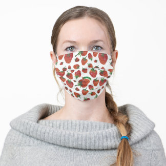 Eric Carle | Caterpillar and Strawberry Pattern Adult Cloth Face Mask