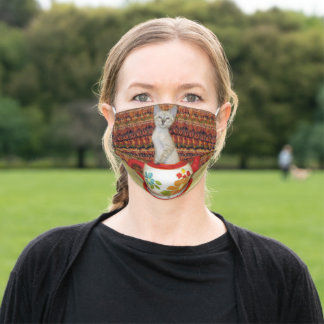 Erica Tea Time with Phoenix The Siamese Kitten Adult Cloth Face Mask