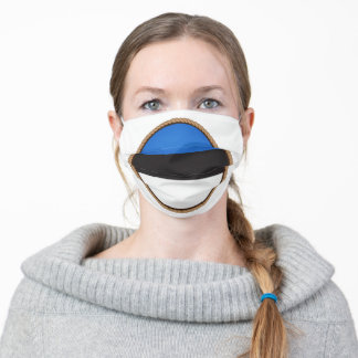 Estonian Flag Seal Adult Cloth Face Mask