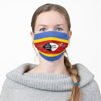 Eswatini Flag Adult Cloth Face Mask