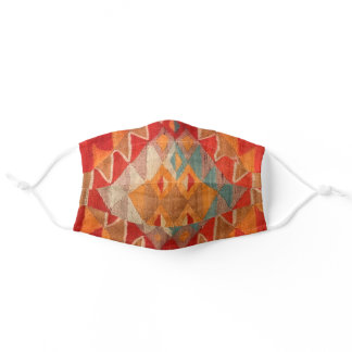 Ethnic Blanket Pattern Autumn Color Adult Cloth Face Mask