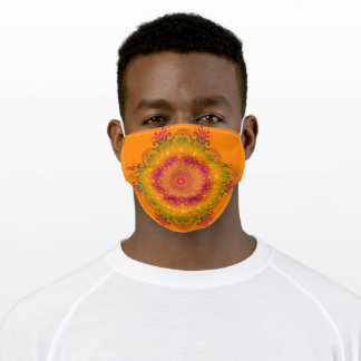 Ethnic floral mandala. adult cloth face mask