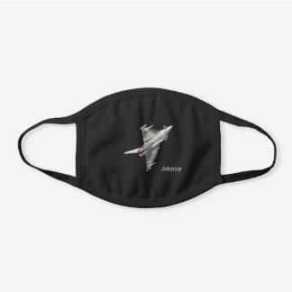 Eurofighter Typhoon, military aircraft, your name Black Cotton Face Mask