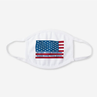 Every Vote Counts - White Cotton Face Mask