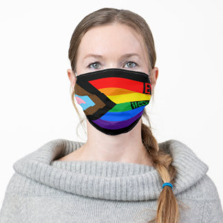 Everyone is Welcome Here (Progress Pride) Flag Adult Cloth Face Mask