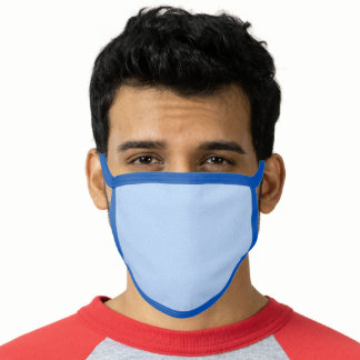 Executive Men's Blue Business All Over Print Face Mask