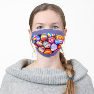 Face Mask Bright Easter Eggs Easter Holiday