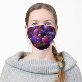 Face Mask Colorful Bubbles Adult Face Mask