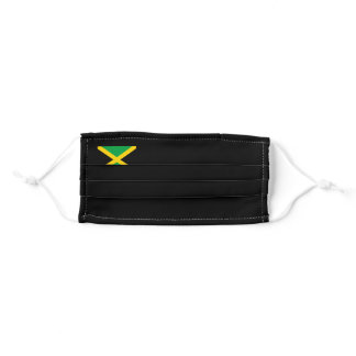 Face Mask Jamaica Flag : Black