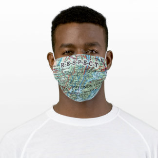 Face mask, NY-NJ map Adult Cloth Face Mask