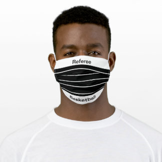 Face Mask White/Black Referee Personalized
