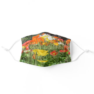 Face Mask with Flowers - Iceland Poppies