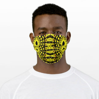 Face Masks For Him Bands of Yellow on Black