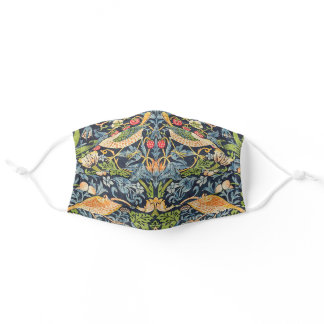 Face William Morris Strawberry Thief Floral Patter Adult Cloth Face Mask