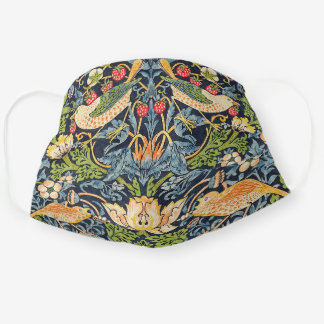 Face William Morris Strawberry Thief Floral Patter Cloth Face Mask