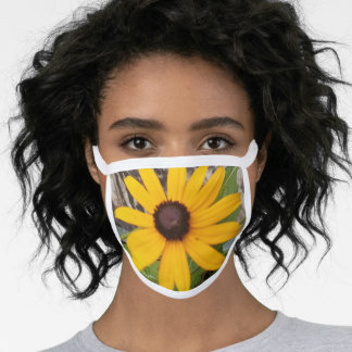 Facemask with Black Eyed Susan Face Mask