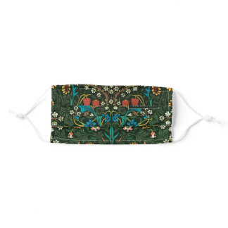 """FACEMASK WITH WILLIAM MORRIS """"TULIPS"""" DESIGN ADULT CLOTH FACE MASK"""