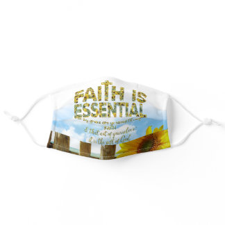 Faith is Essential Sunflower Adult Cloth Face Mask