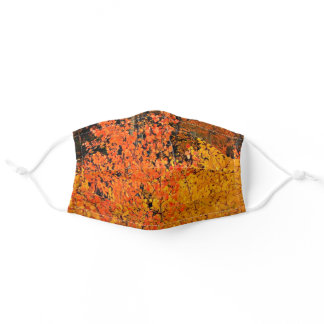 Fall Leaves Orange and Yellow Adult Cloth Face Mask