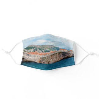 Famous Dubrovnik Old Town roofs & walls - Croatia Adult Cloth Face Mask