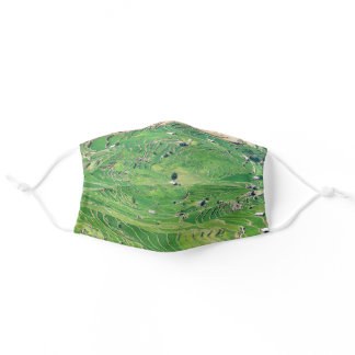 Famous yuanyang Rice Terraces - Yunnan, China Adult Cloth Face Mask
