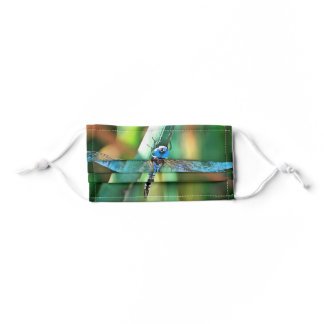 Fantasy Dragonfly In Turquoise and Black Kids' Cloth Face Mask