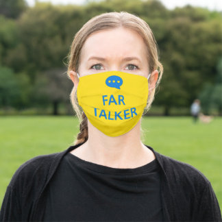 Far Talker Yellow Face Mask with Filter Slot