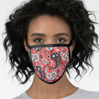Farm Country Red and Black Paisley Face Mask