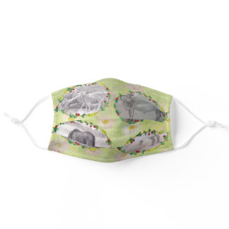 Farm Fresh Barn Animals with Daisy Adult Cloth Face Mask