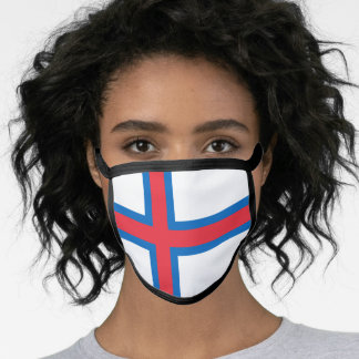 Faroese flag face mask