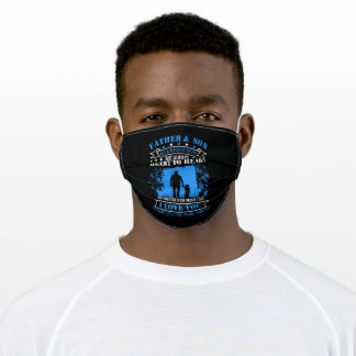 Father And Son I Love You More Than Anything Adult Cloth Face Mask