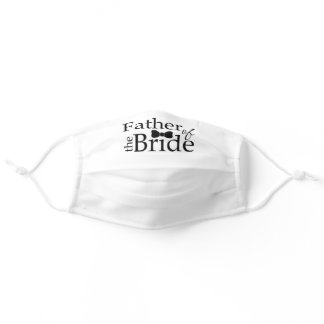 Father of the Bride Black Bow Tie Wedding Adult Cloth Face Mask