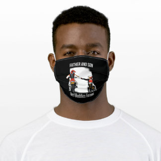 Father & Son Best Buddies Adult Cloth Face Mask