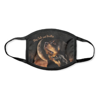 Father & Son Rottweiler in Moon & Stars Night - Face Mask