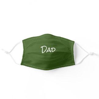 Father's Day Dad Green Adult Cloth Face Mask