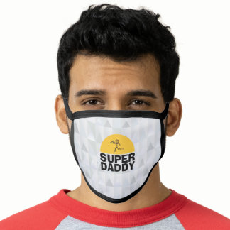 "Father's Day Modern Design ""SUPER DAD"" Trendy Face Mask"